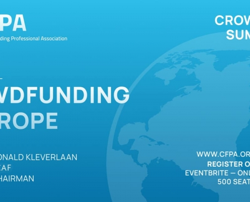 CfPA Crowdfunding Invest Summit 2021 Ronald Kleverlaan Crowdfunding in Europe